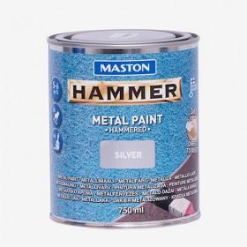 Боя с Hammer ефект сребриста HAMMER 750ml