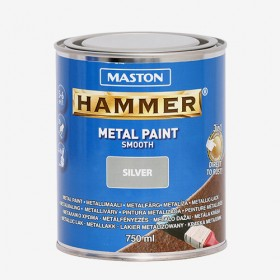 Боя сребро гладка HAMMER 750ml