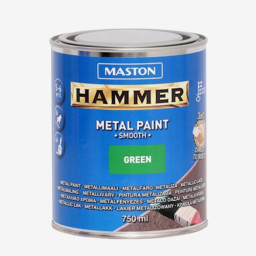 Боя зелена гладка HAMMER 750ml