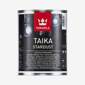 Звезден сребърен брокат Taika stardust