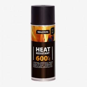 Спрей топлоустойчив черен +600°C 400ml